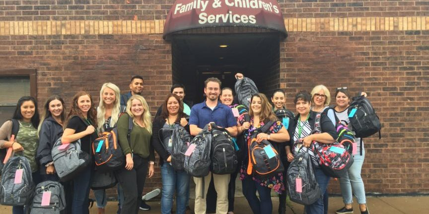 Tulsa Realtor Association Changing the World with Backpacks